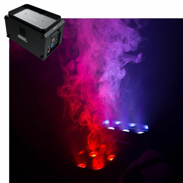 Verticale rookmachine (CO2 imitatie) 2000m2_min 3000W Showven Sonic Boom Plus (incl. volle tank) huren