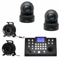 Set: 2x PTZ camera dome HD-NDI met controller huren