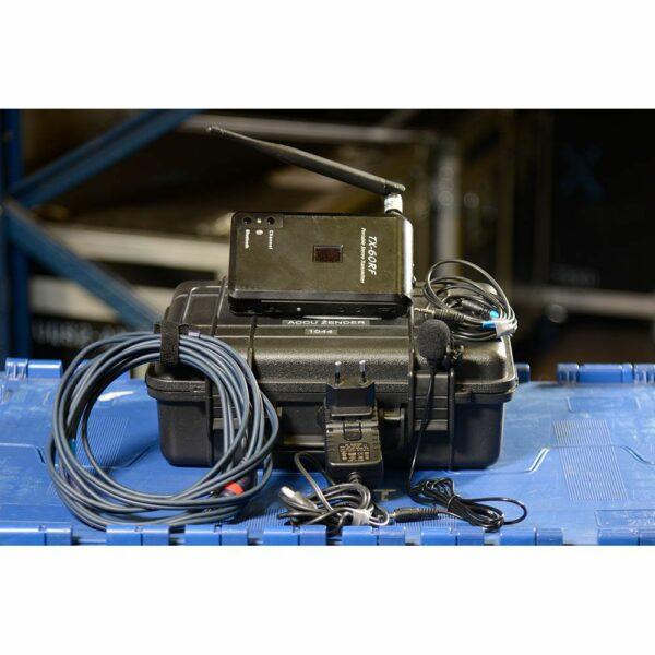 Silent Disco ACCU zender TX-60RF inhoud