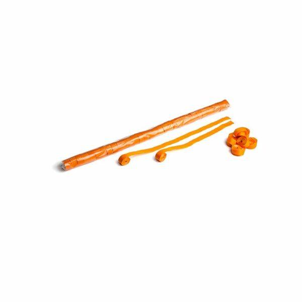Streamer oranje papier 10m x 15mm kopen
