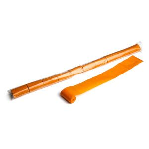Streamer oranje papier 10m x 50mm