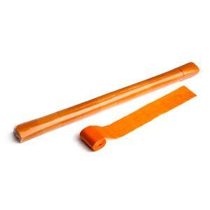 Streamer oranje papier 20m x 50mm