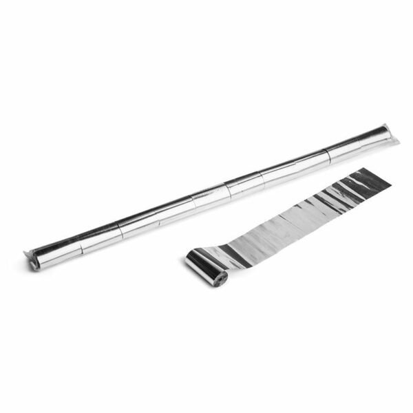 Streamer zilver metallic 10m x 50mm