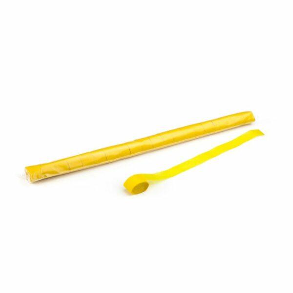 Streamers geel papier 20m x 25mm
