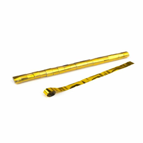 Streamer goud metallic 10m x 25mm kopen