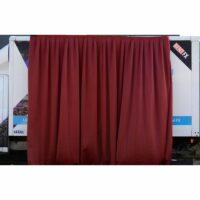 Theaterdoek bordeaux rood geplooid 300x400cm (BxH) huren