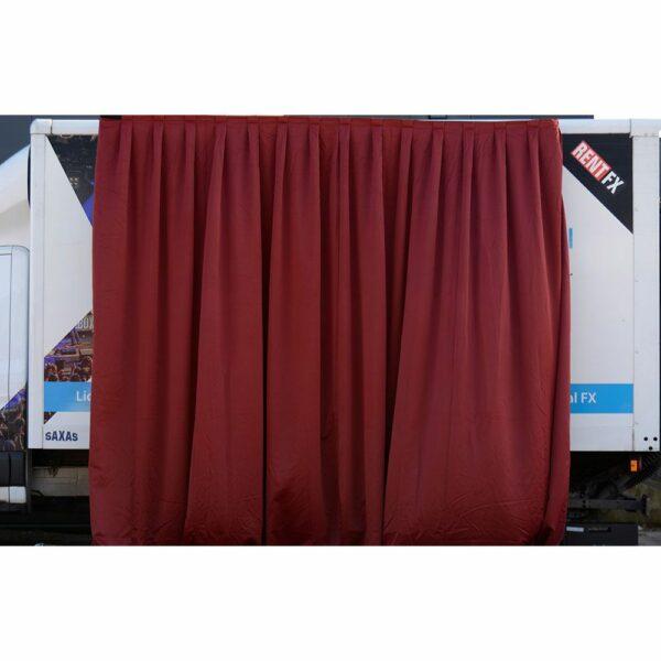 Theaterdoek bordeaux rood geplooid 300x400cm (BxH)
