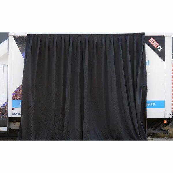 Theaterdoek zwart geplooid 300x400cm (BxH)