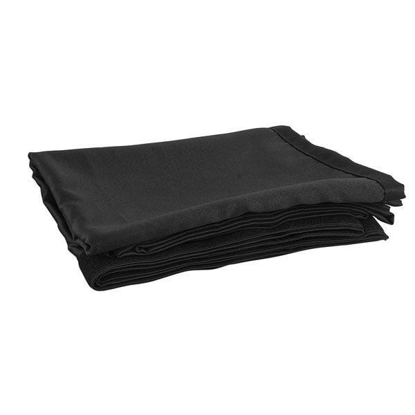 Theaterdoek zwart strak 300x120cm (BxH)