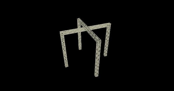 Truss kruis 4x4x4m (LxBxH) buitenmaten huren