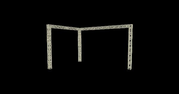 Truss open- corner 6x4x4m (LxBxH) buitenmaten