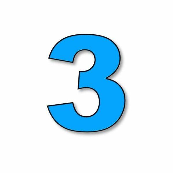Verlichte cijfer: 3