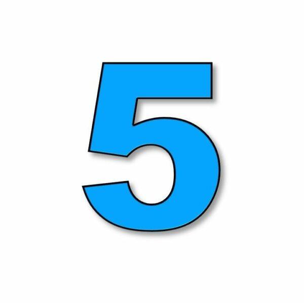 Verlichte cijfer: 5