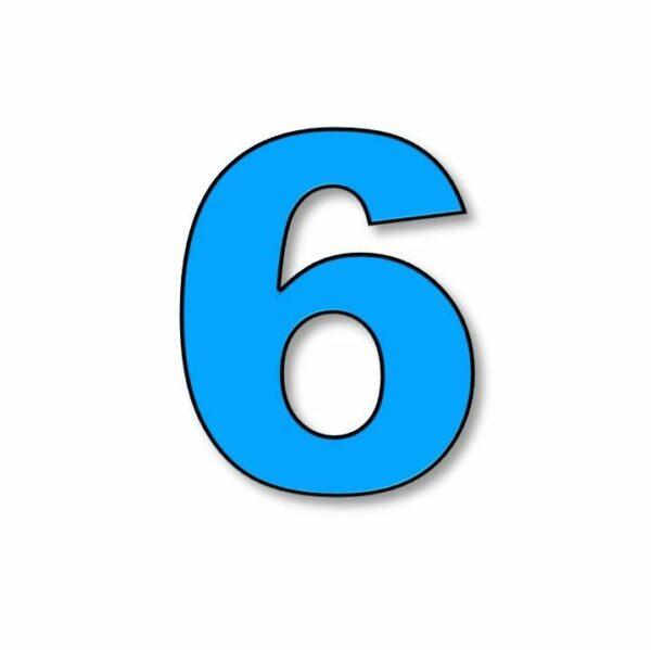 Verlichte cijfer: 6