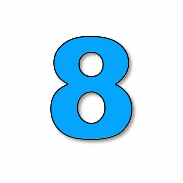 Verlichte cijfer: 8 huren