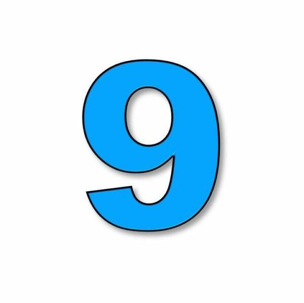 Verlichte cijfer: 9 huren