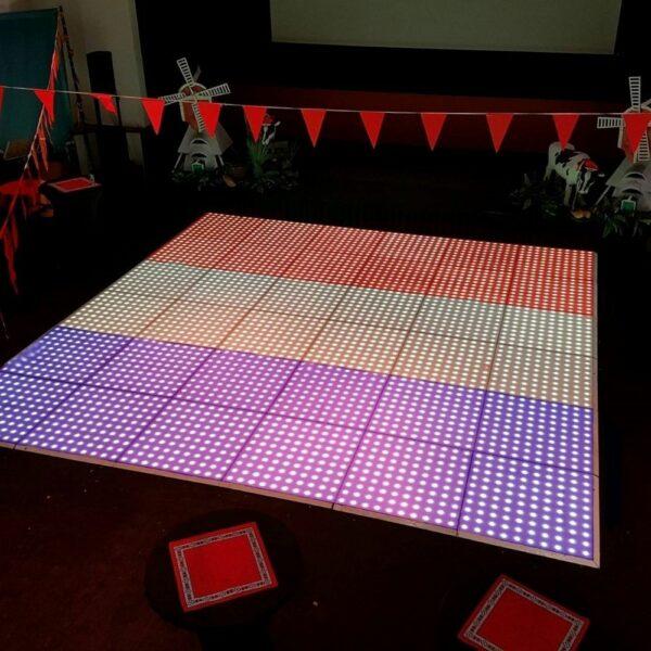 Verlichte dansvloer 6x6m