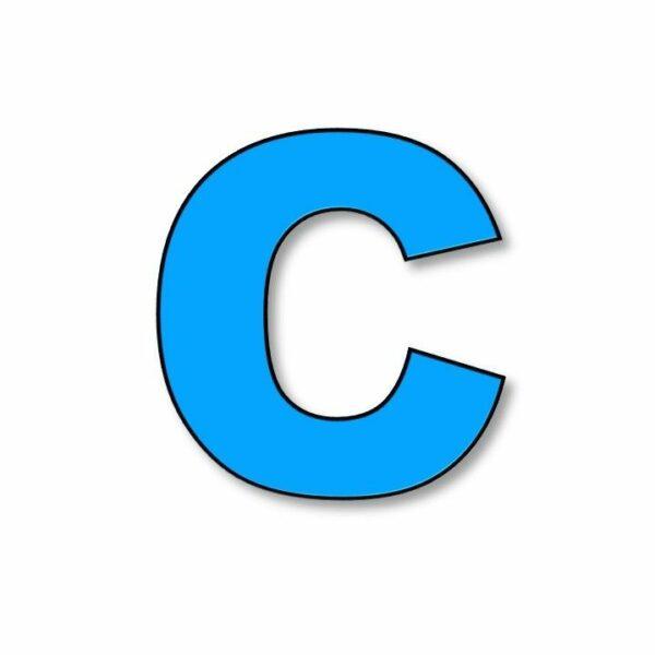 Verlichte letter: C