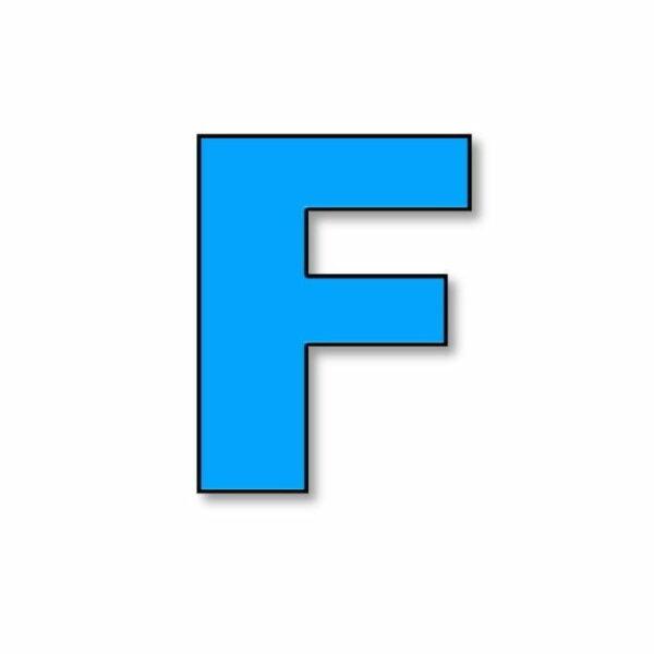 Verlichte letter: F huren