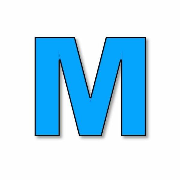 Verlichte letter: M huren