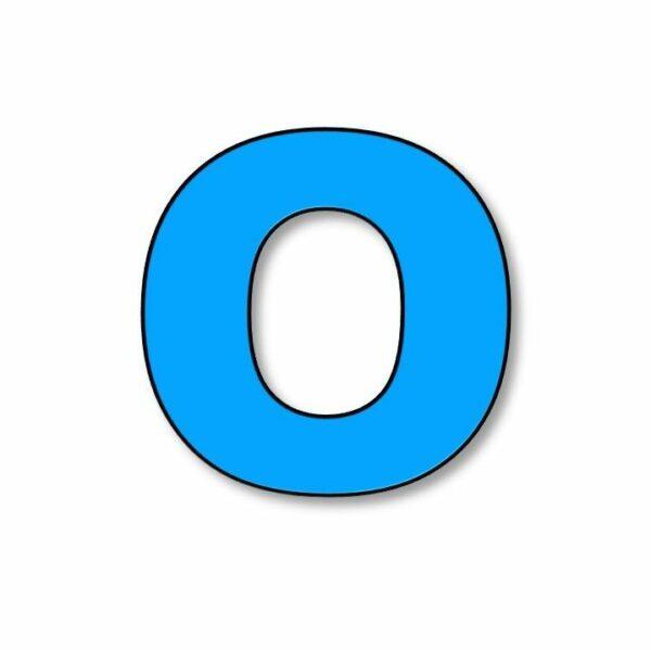 Verlichte letter: O
