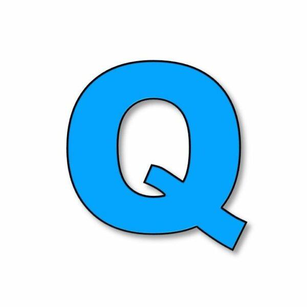 Verlichte letter: Q