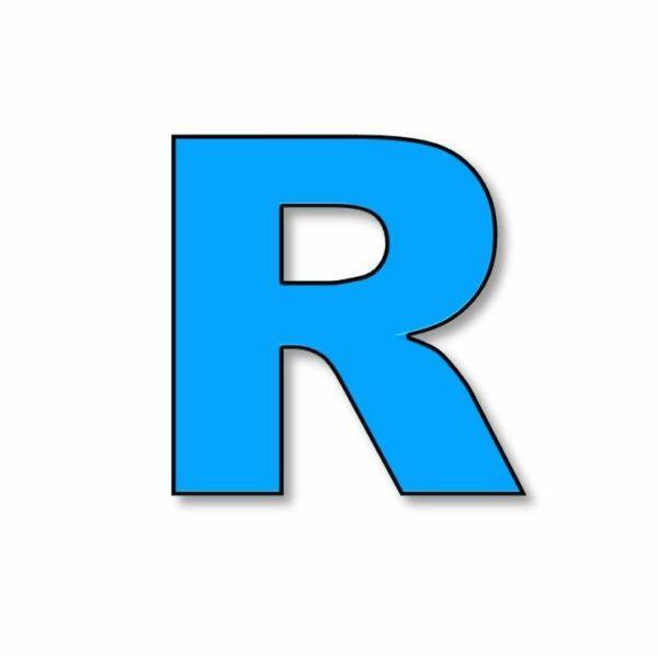 Verlichte letter: R