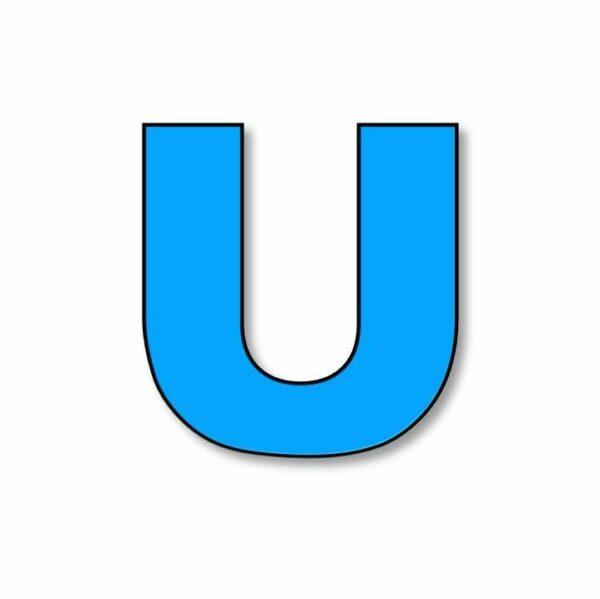 Verlichte letter: U huren