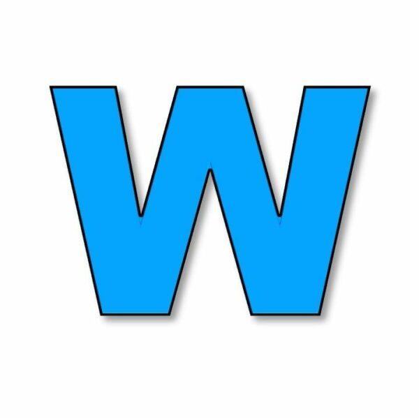 Verlichte letter - W