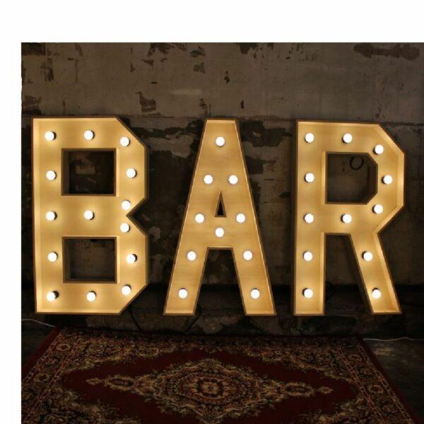 Verlichte woorden: bar