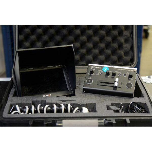 Videomixer Roland V-2HD (incl. 7 Monitor en tripod) huren