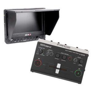 roland video mixer met 7'' monitor