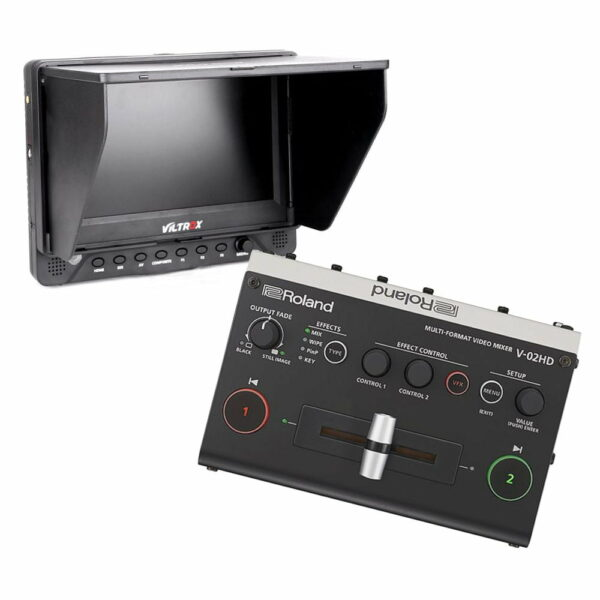 roland video mixer met 7'' monitor huren