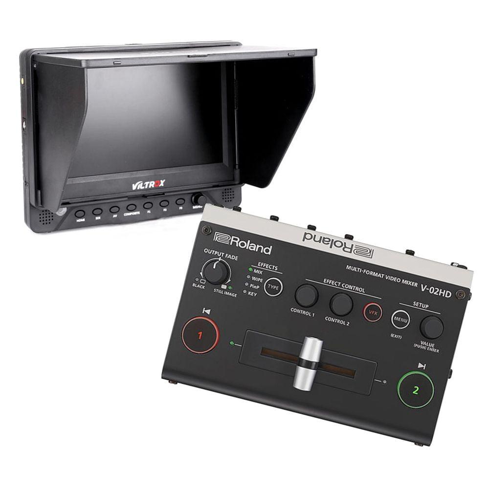 videomixer roland v 2hd incl. 7 monitor en tripod 76111