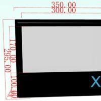 X-screen (opblaasbaar projectscherm) 3×1,70m huren